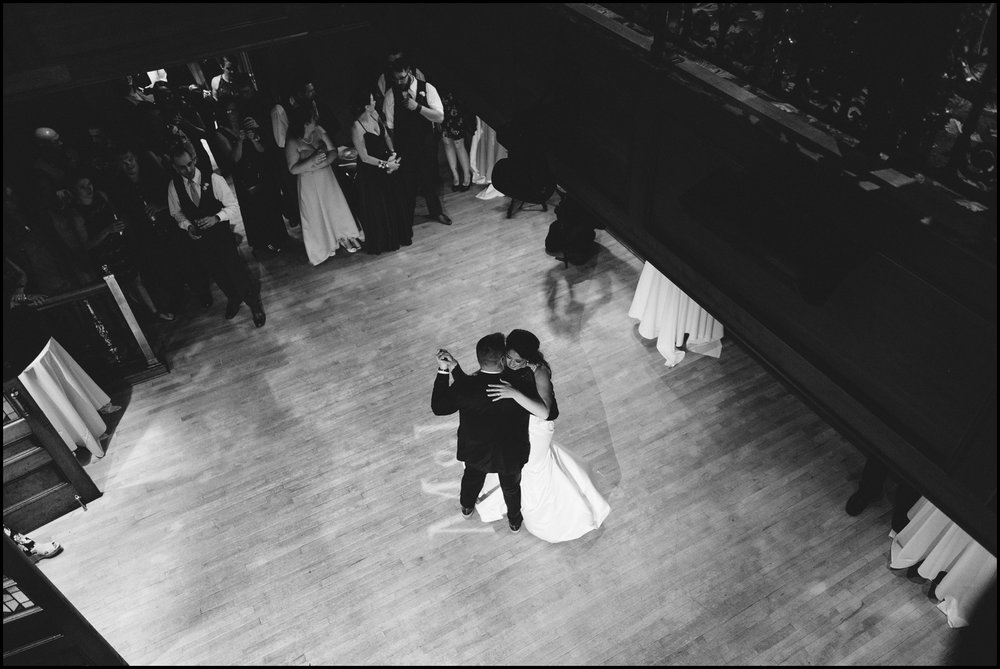 bride and groom first dance at MPLS wedding venue