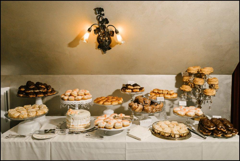 dessert display table