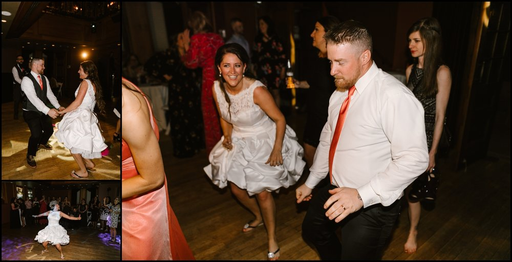 wedding reception at Van Dusen Mansion