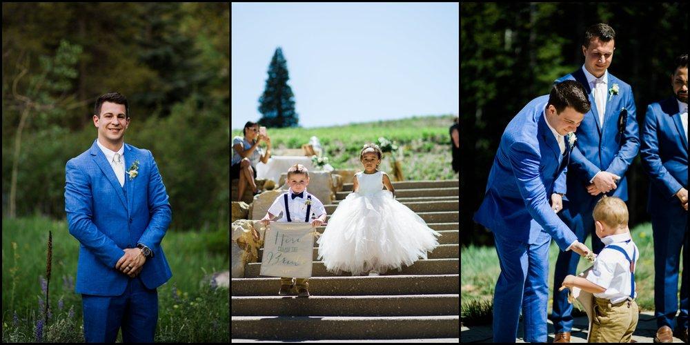 Outdoor wedding ceremony in Colorado