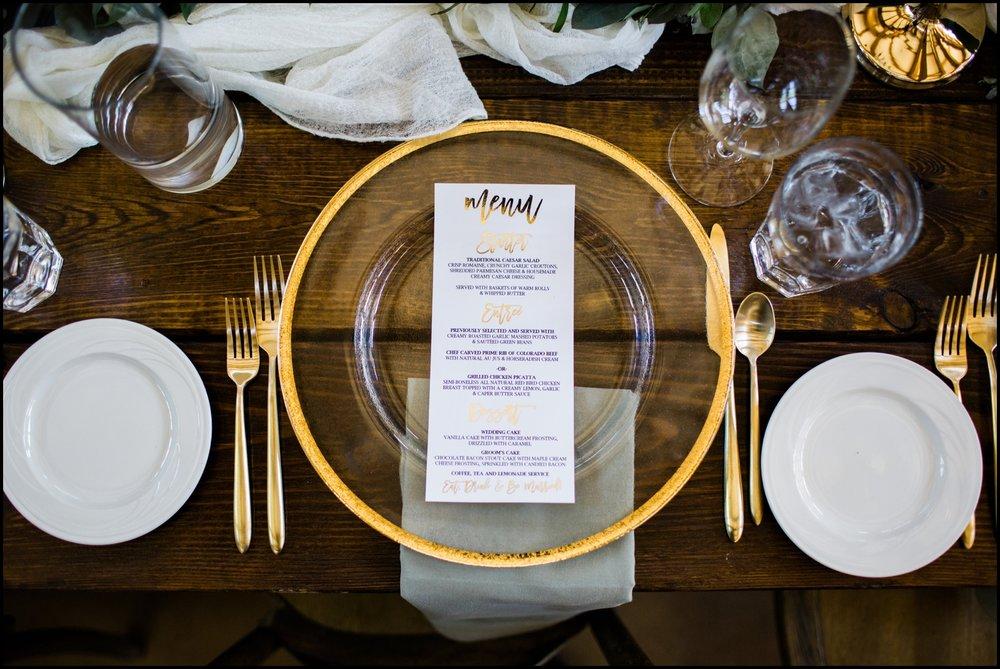 Golden wedding tablescape ideas