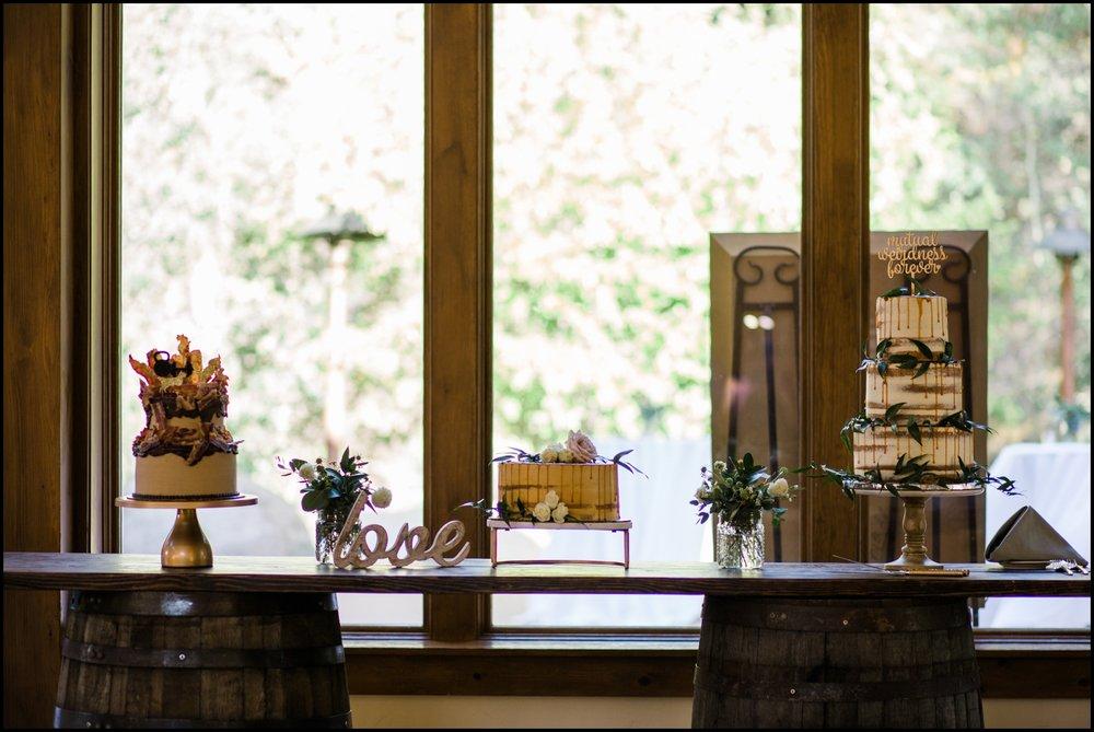 Wedding cakes display