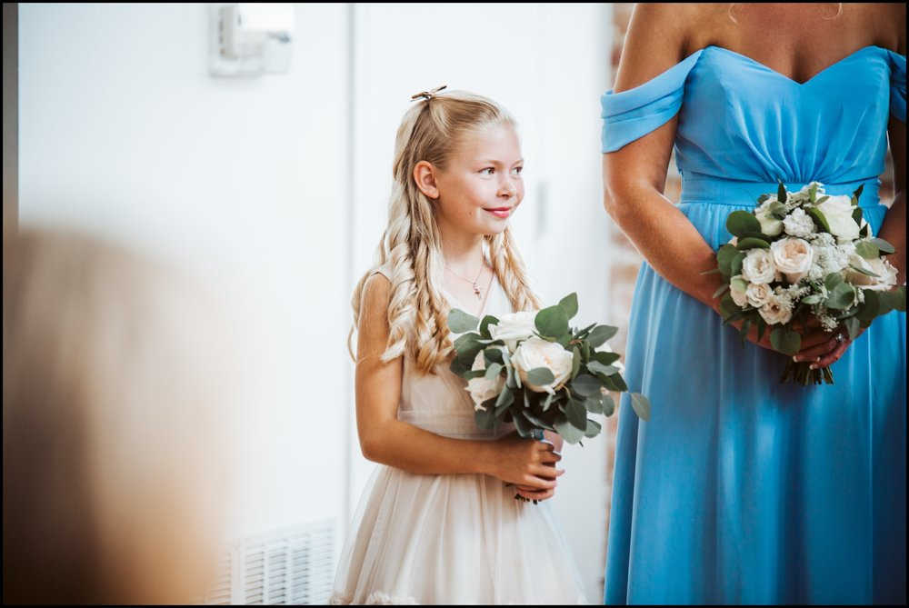 Flower girl during ceremony