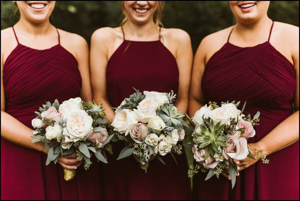 Bridesmaid's wedding bouquets