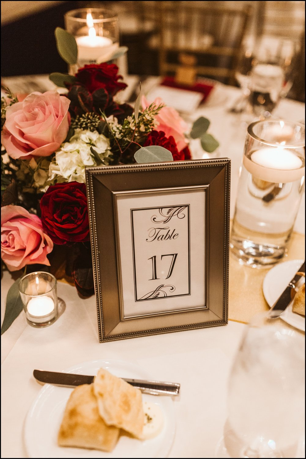 Table number sign decor