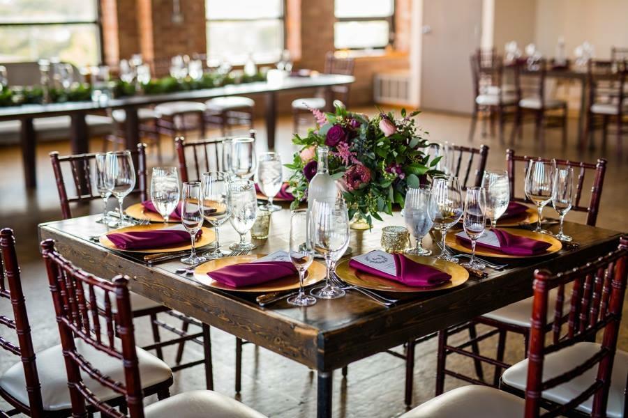 Wedding reception tableset