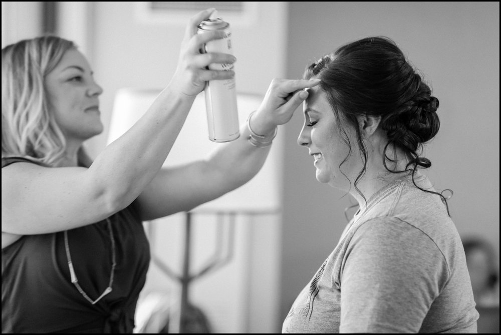 bride getting ready for her Mpls wedding