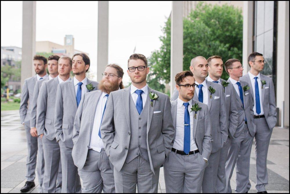 Groom and groomsmen before the wedding