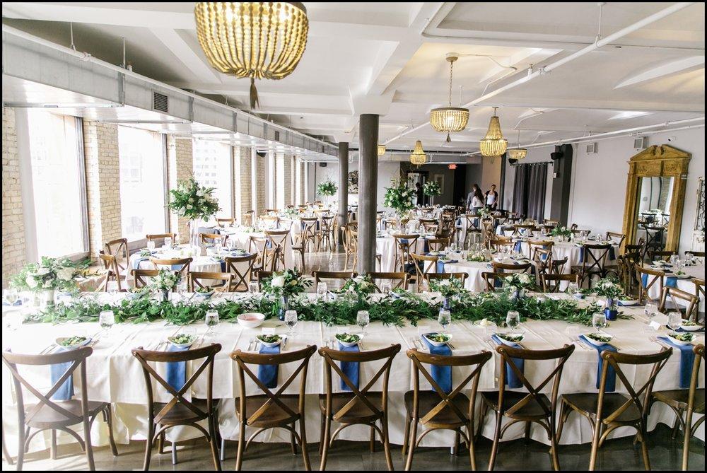 Lumber exchange wedding reception