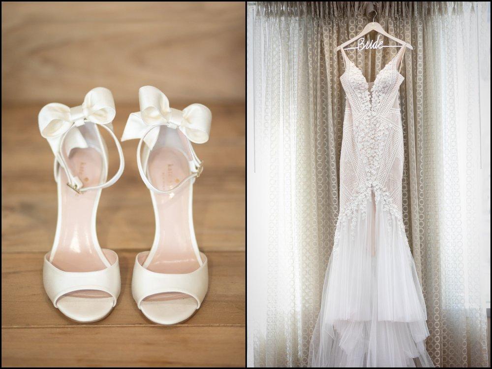 Wedding Shoes and Wedding Dress