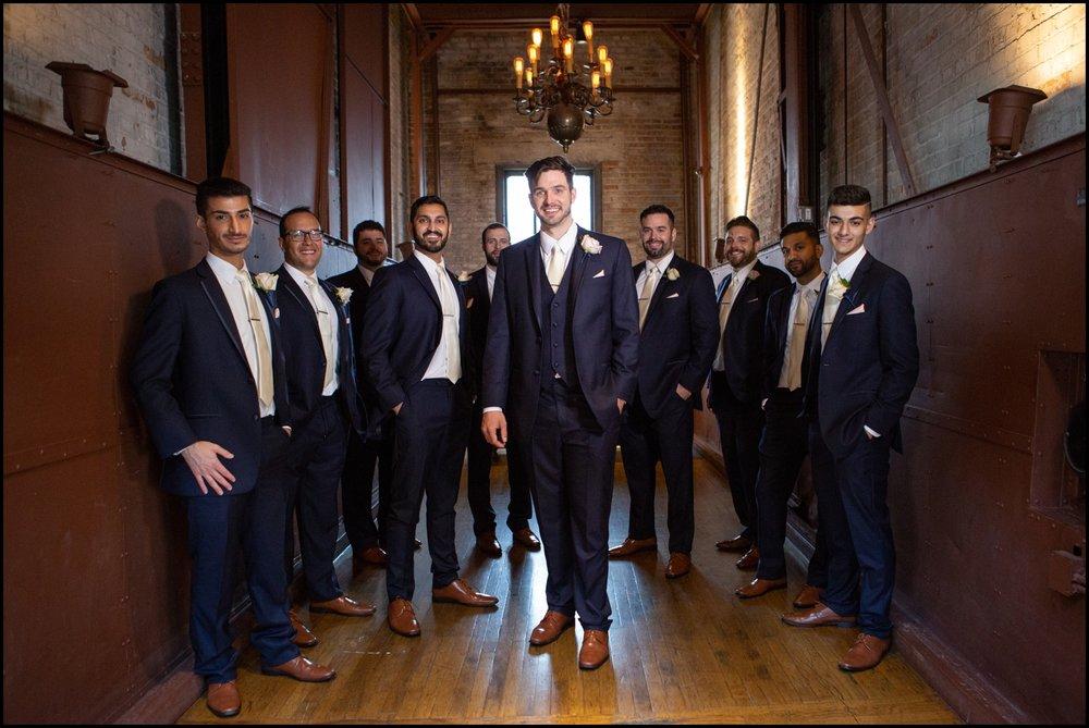 Groomsmen with the groom