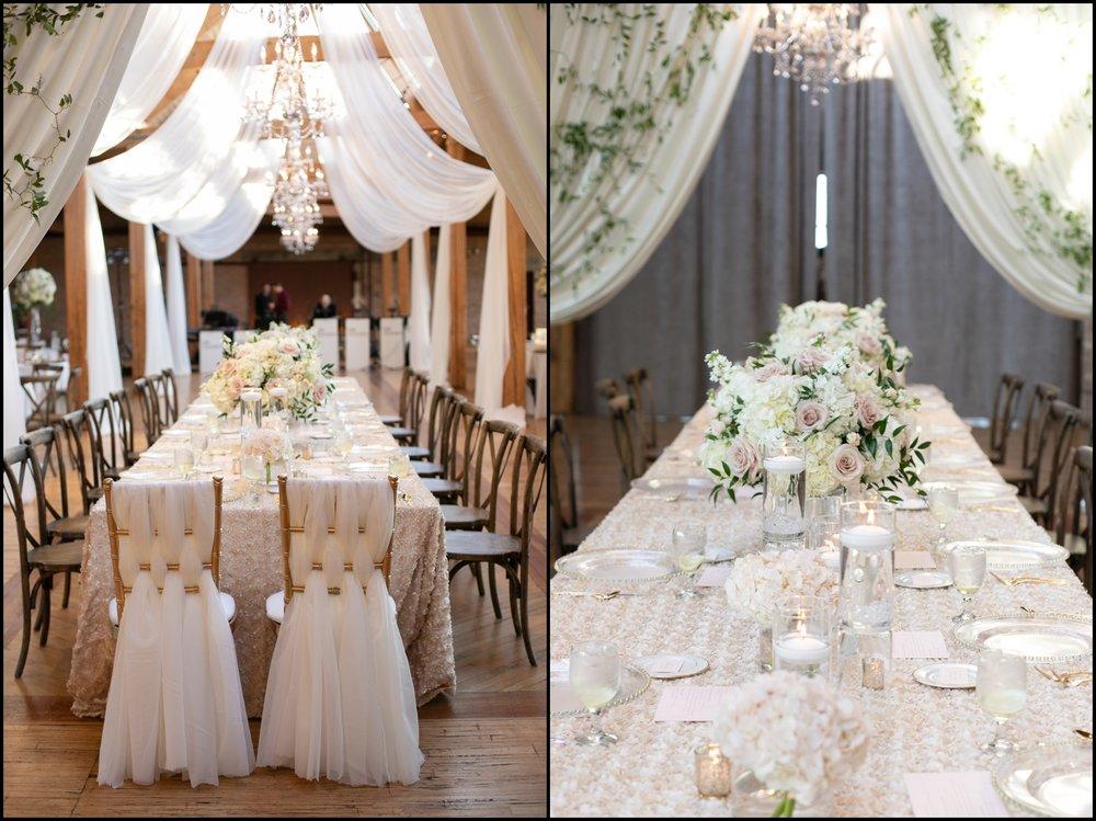 Classy wedding table set