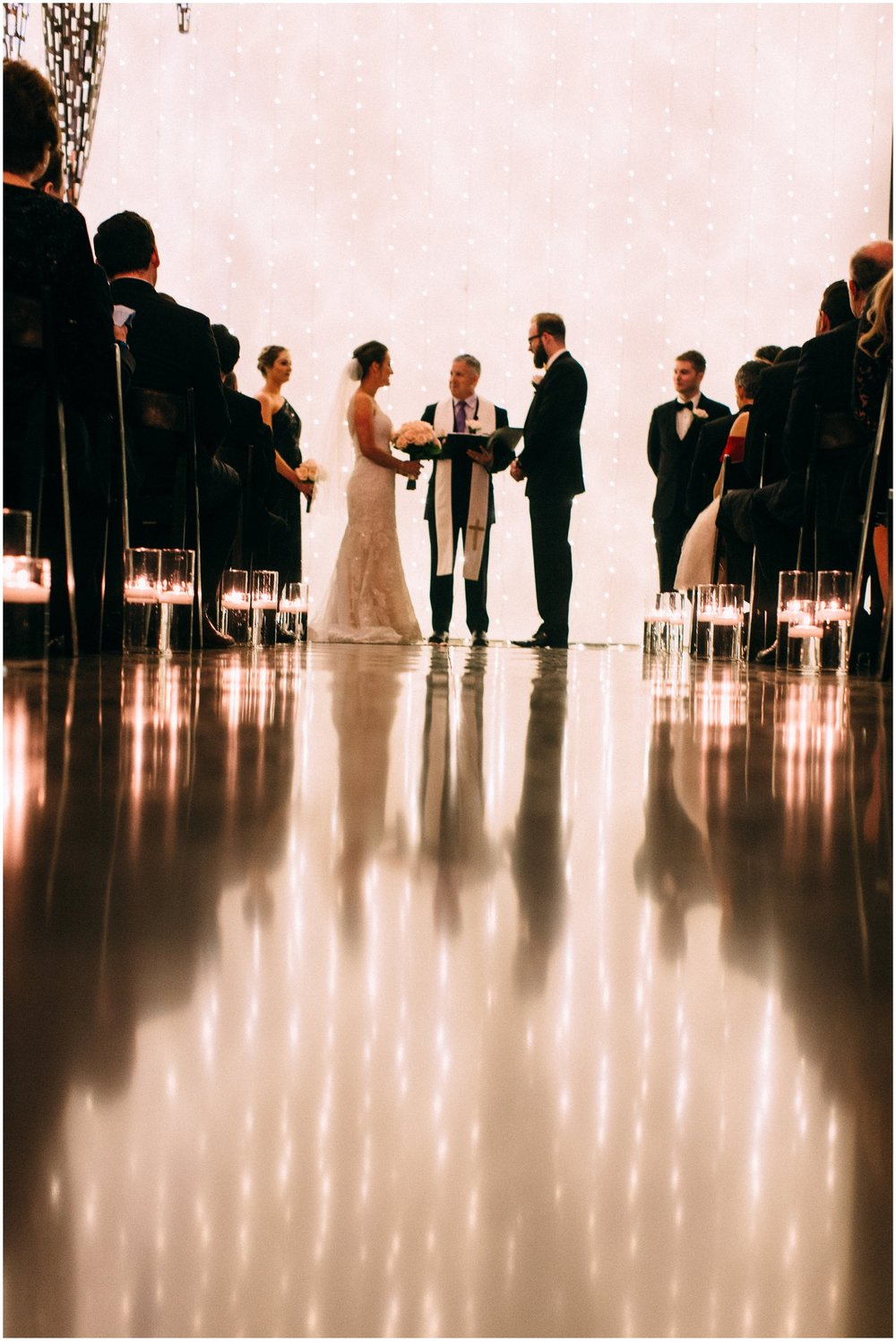 bride and groom during their wedding ceremony in Denver