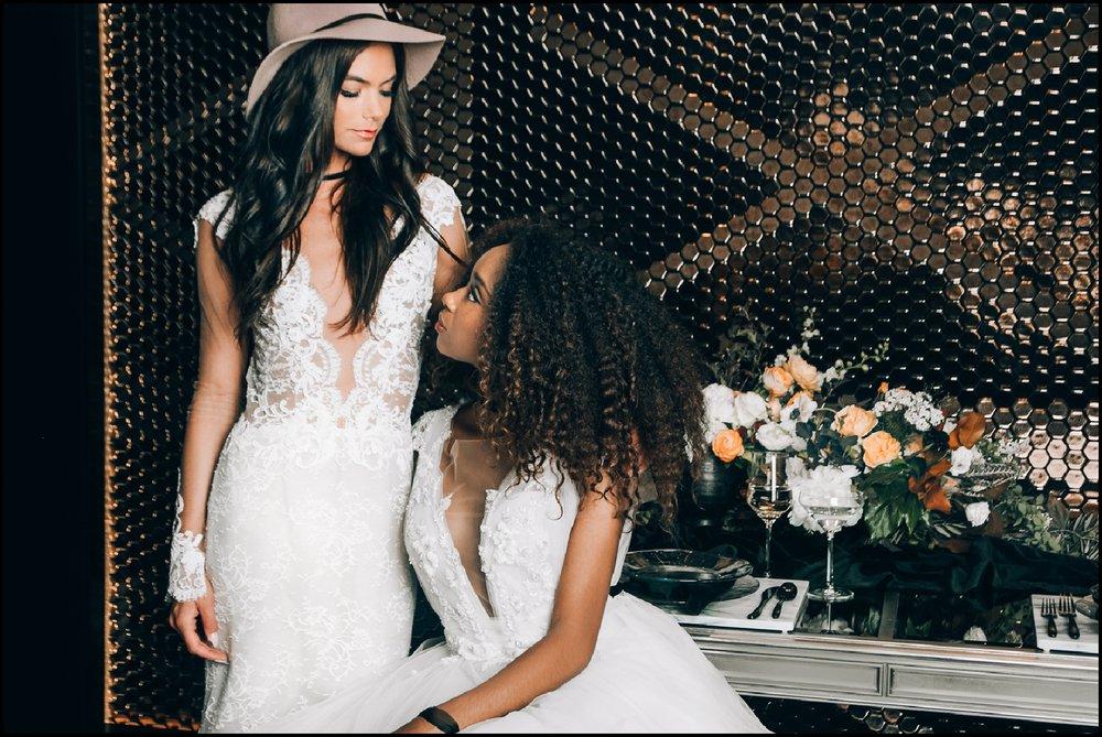 brides at their MN wedding