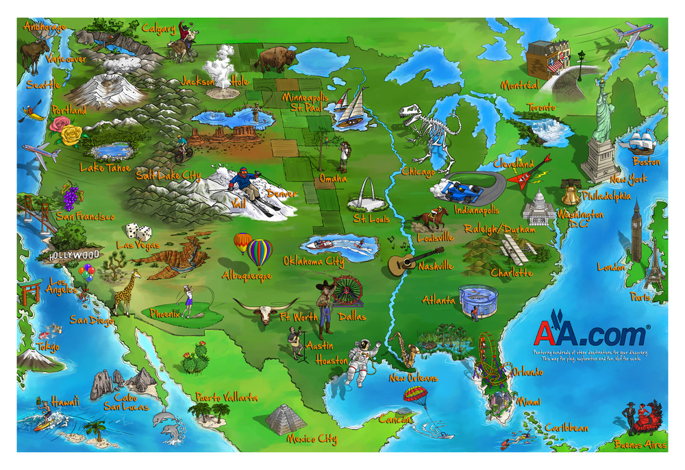American Airlines Destination Map