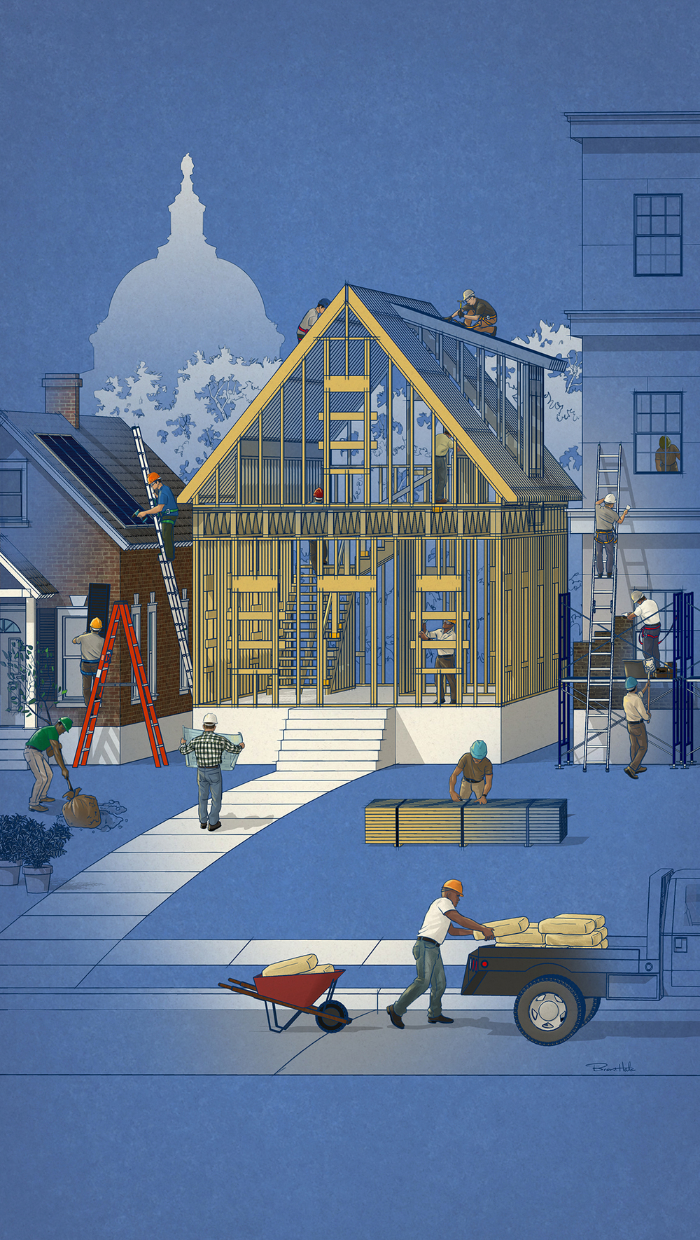 National Association Of Home Builders Magazine - Cover Illustration