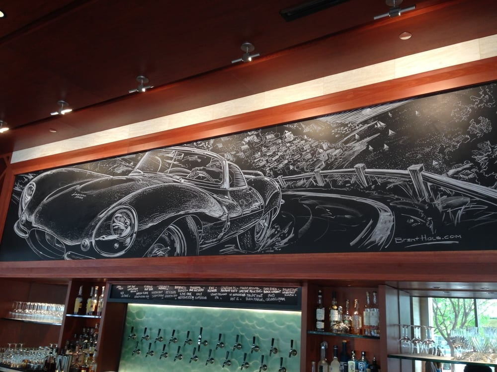 Lark On The Park - Chalkboard Mural