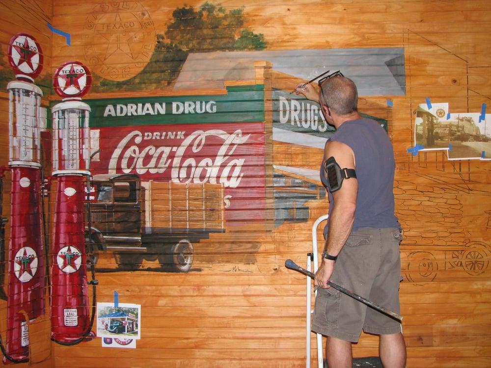 Ben Wheeler, Texas - Moore's Store Mural Detail