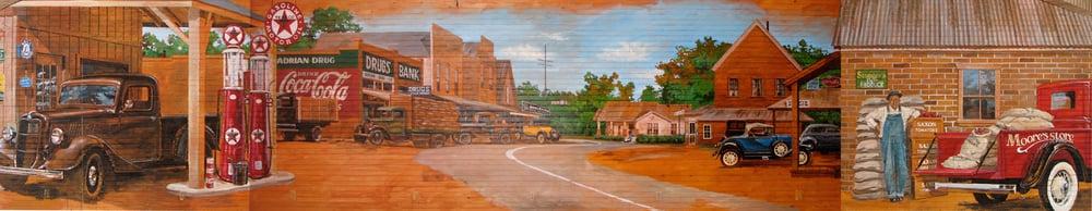 Ben Wheeler, Texas - Moore's Store Mural