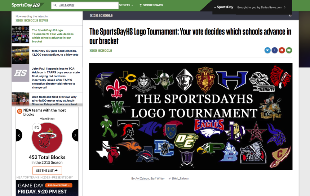 The SportsDayHS Logo Tournament