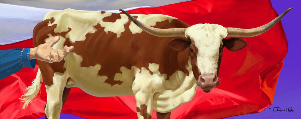 GattiTown Mural Texas Mural (10'x60') Detail