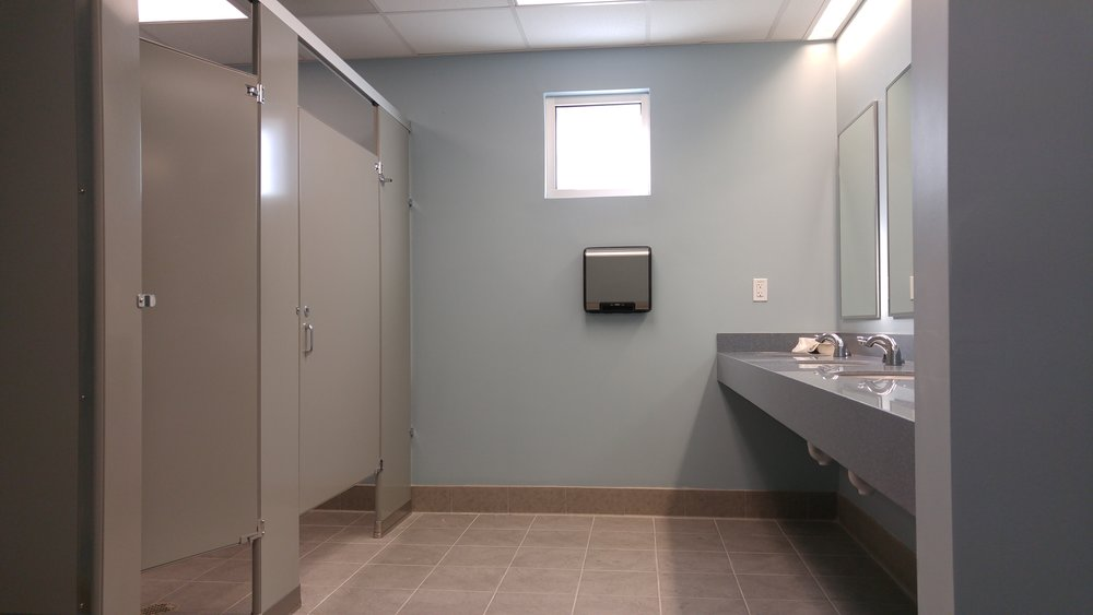medical office bathroom painting