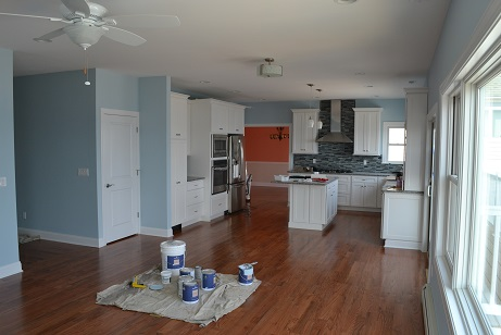 house painting with open floor plan