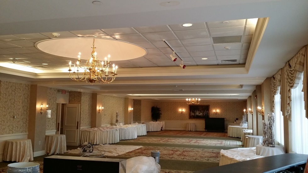 interior commercial ballroom painting and repainting