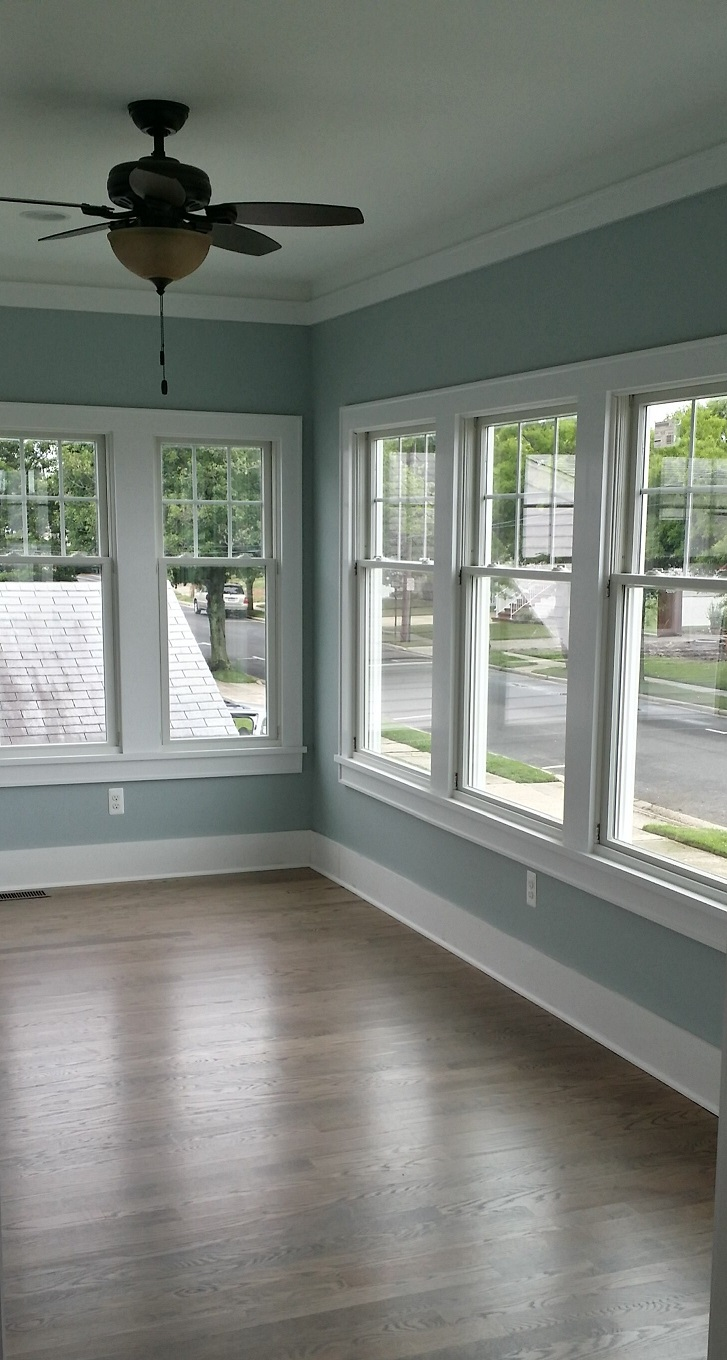 sunroom painting light blue