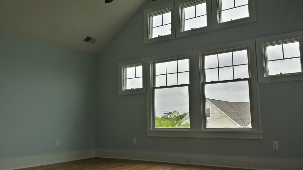 master bedroom walls and window painting