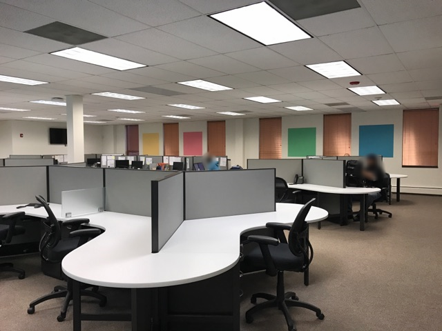 office square color accents for business by painting contractor
