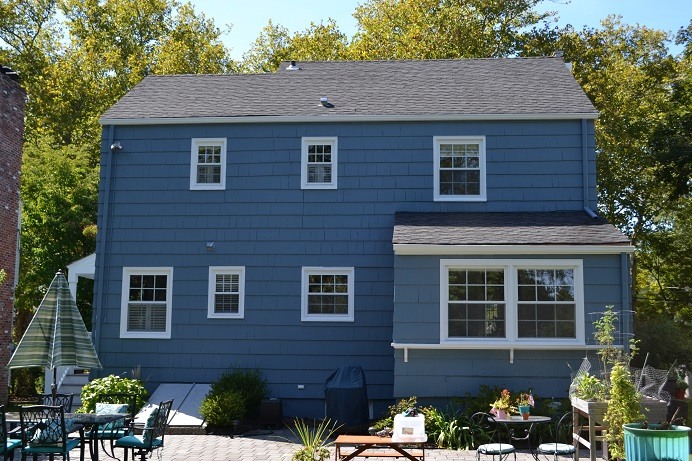 exterior cedar shake wood siding painting by exterior painting company