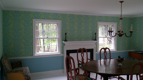 interior painting and wallpaper, farrow and ball paint