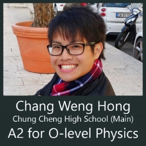 chung cheng high main CCH student attends Physics Tuition at Clementi by Calvin Kong for o level and IP