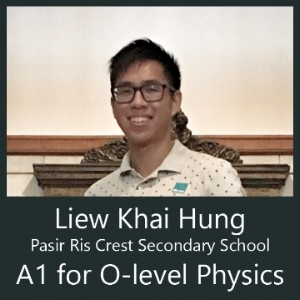 A1 for Physics after attending Calvin Kong Physics Tuition Group o level and IP