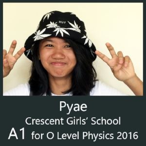 Calvin kong physics tuition class o level and IP score A1