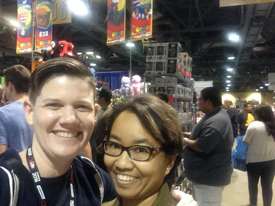 geeking it up at Long Beach Comic Expo 2016