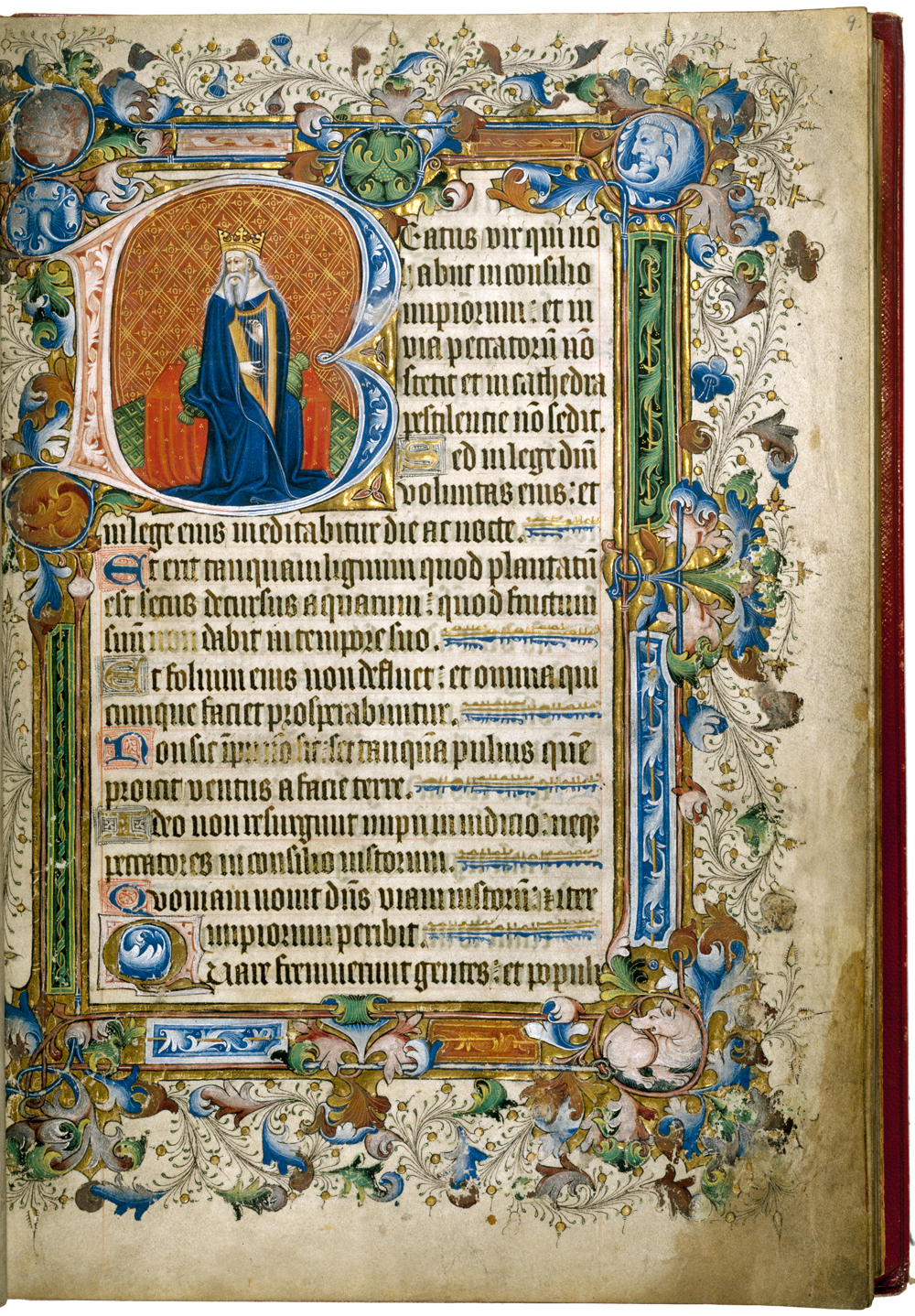 Psalter owned by Owen Jones, dated between 1400 and 1424 C.E. National Art Library: MSL/1902/1683