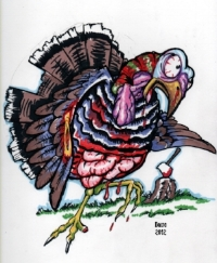 Image is of a zombie turkey, courtesy of biomek on DeviantArt.