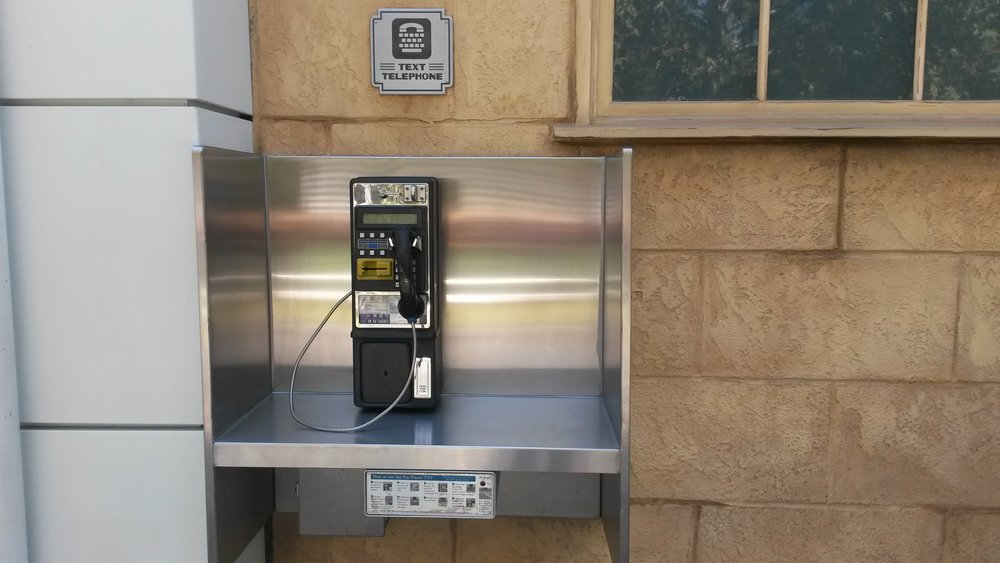 This is a text payphone! How cool is that? So necessary for anyone hearing impaired who doesn't have access to a cell for whatever reason!