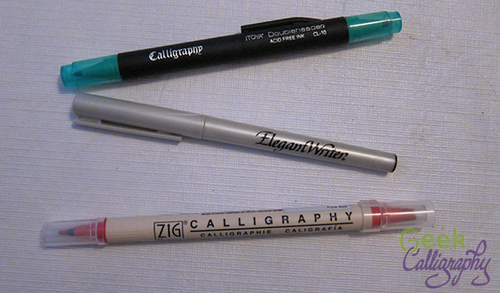 A Very Small Sample Of The Number Felt Tip Calligraphy Markers Out There