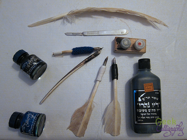 Ariela's quills and equipment.