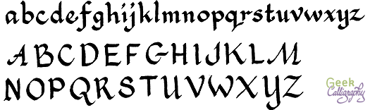 Geek Calligraphy Italic Sample