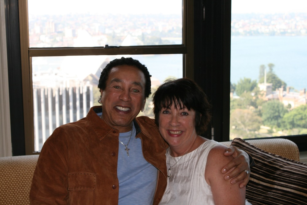 Angela Catterns and Smokey Robinson