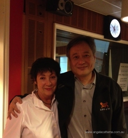 Angela and Ang Lee   -   ABC Sydney, 2013      How great to meet Ang Lee when he was in town, promoting his latest triumph, Life of Pi.