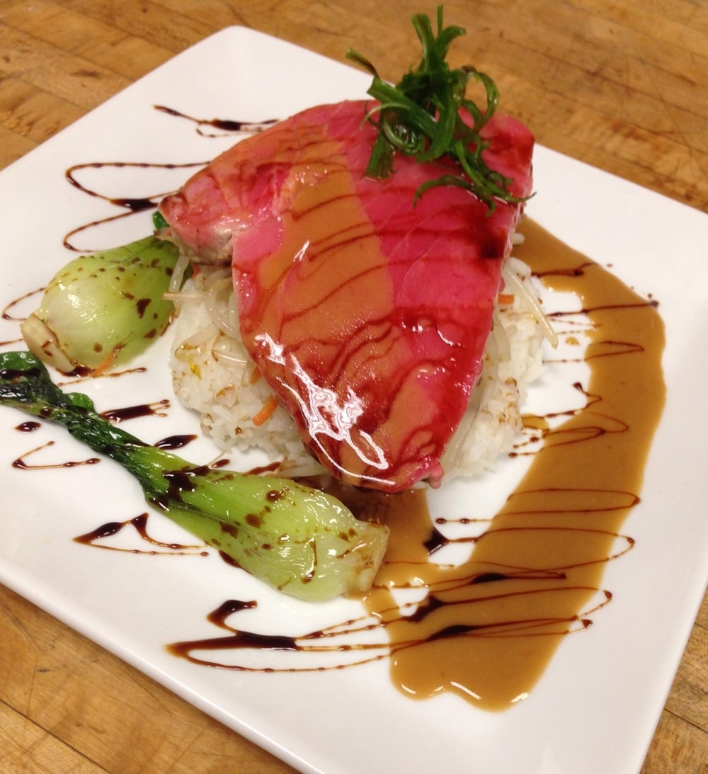 Seared Ahi with a Shoyu-Butter Sauce