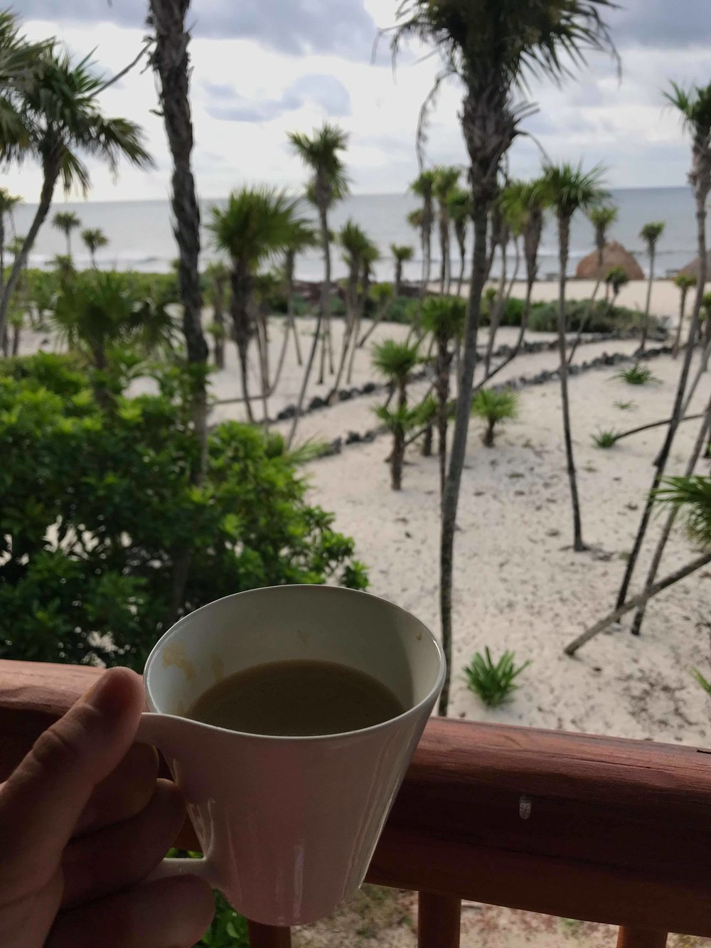 One of our favorite parts of the trip was enjoying coffee out on the porch every morning listening to the waves crash!