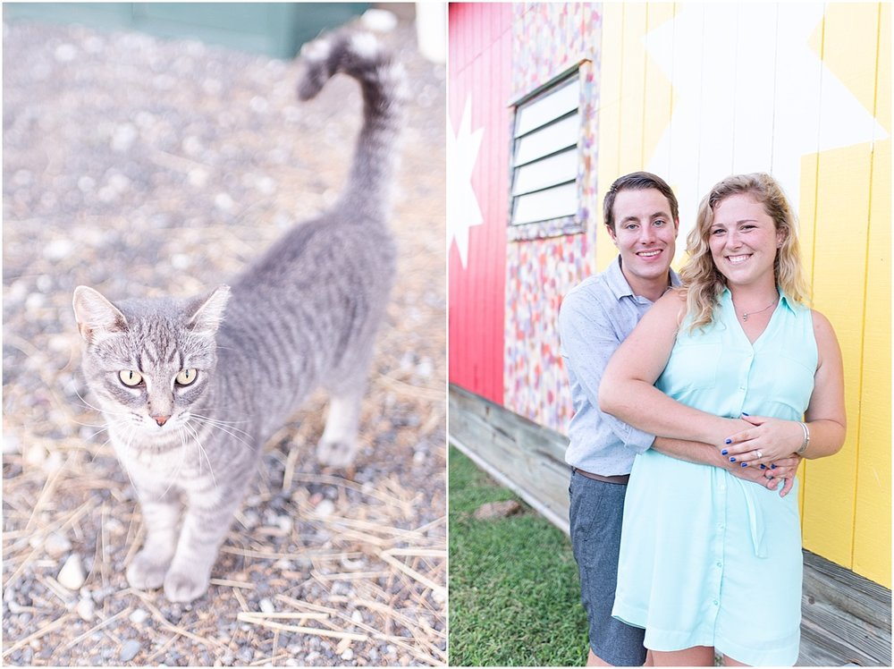 We had an audience while taking photos at the barn! Had to get a picture of the little kitty!