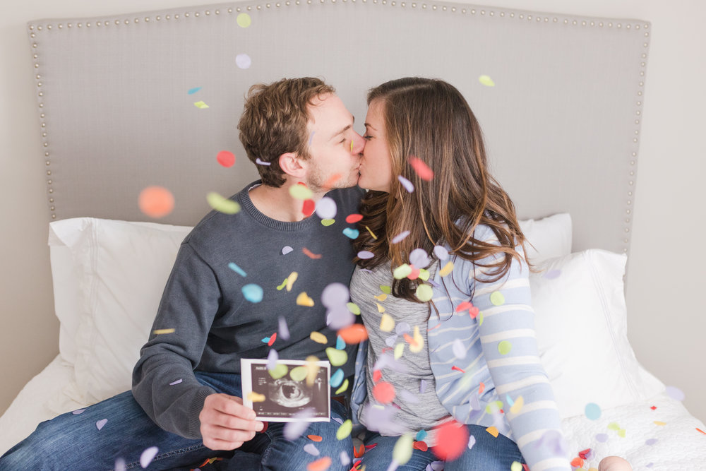 Marie just launched a new website and we used a bunch of confetti for her shoot prior, so we decided to use some for ours too since we already had it!!! :)