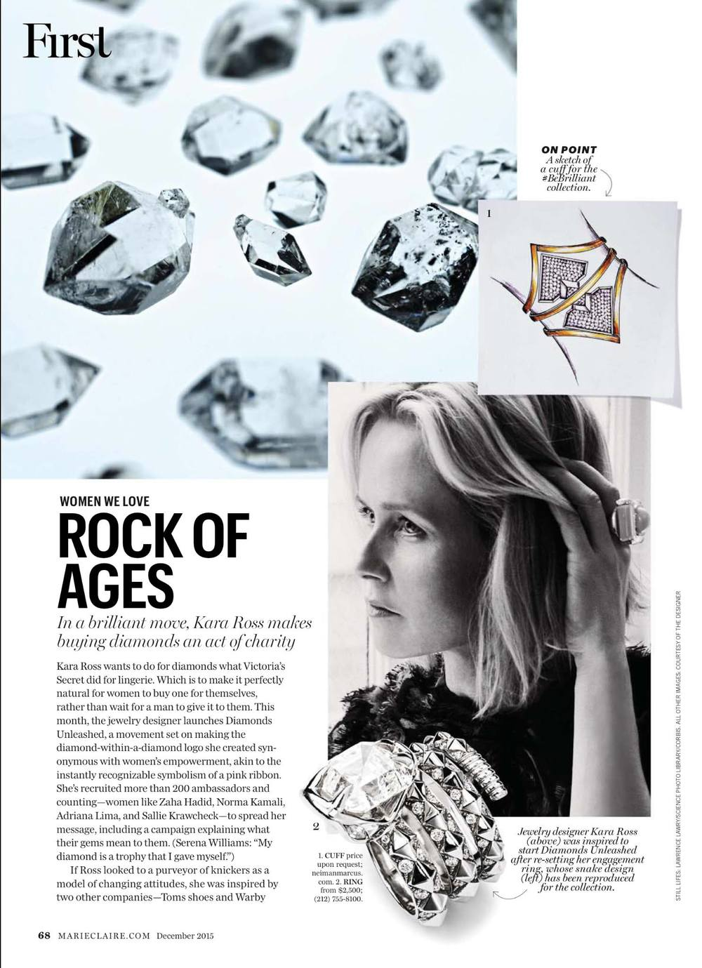 Diamonds Unleashed in Marie Claire
